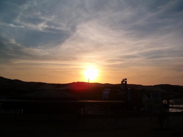 coucher de soleil sur la dune dans les landes à seignosse le penon
