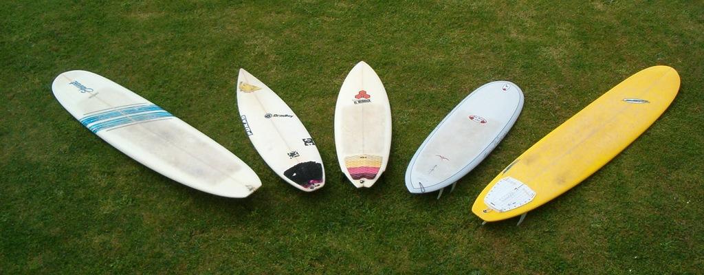 quiver surfboards longboards et shortboards
