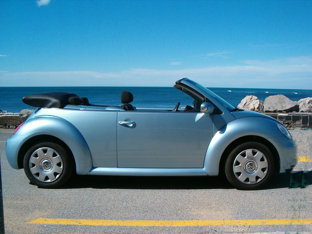 vw new beetle cabriolet de profil