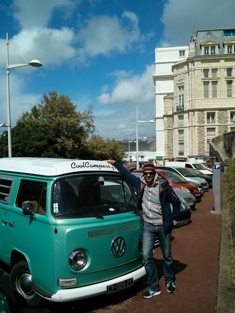 VW camper van à Biarritz